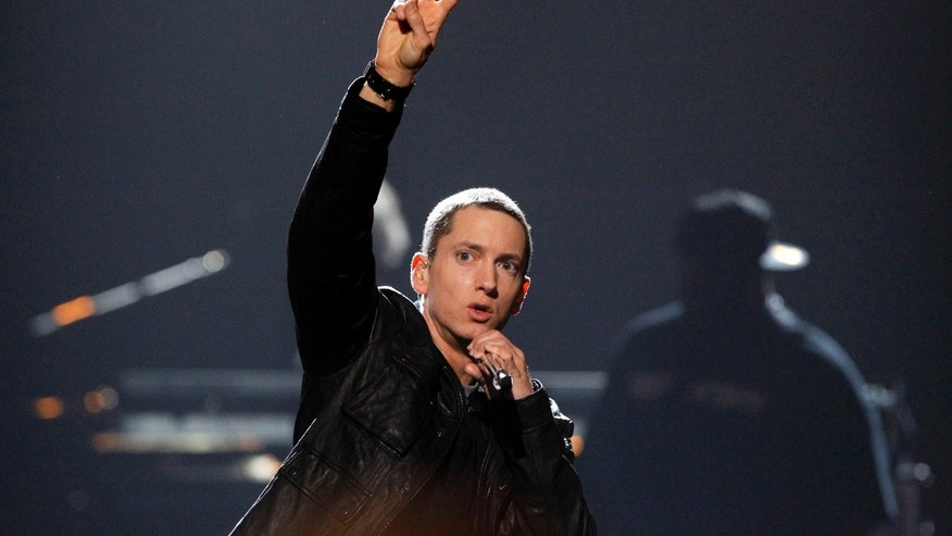 Rapper Eminem performs 'Not Afraid' at the 2010 BET Awards in Los Angeles June 27, 2010.