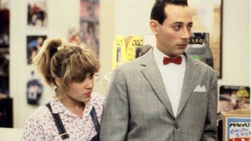 E.G. Daily is seen alongside Pee-Wee Herman.