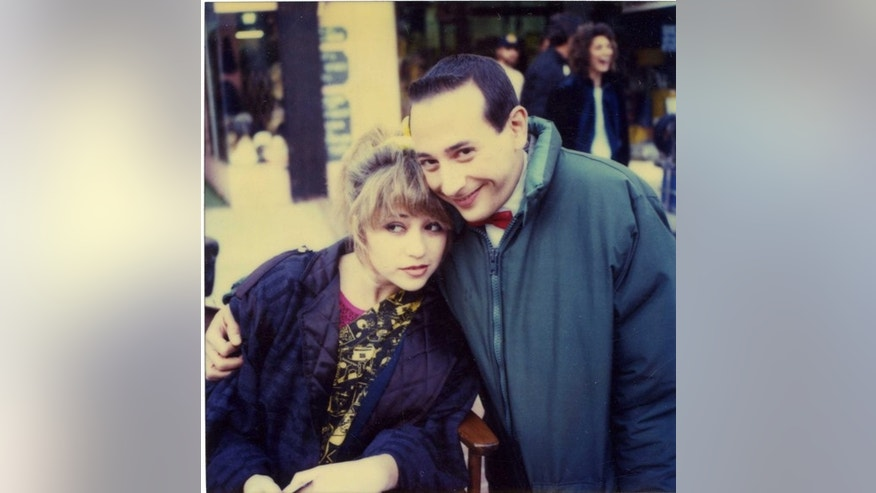 E.G. Daily poses with Pee-Wee Herman.