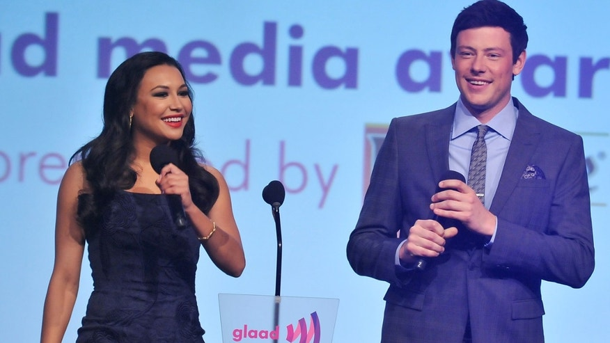 Naya Rivera and Cory Monteith during the 23rd Annual GLAAD Media Awards on March 24, 2012 in New York City.