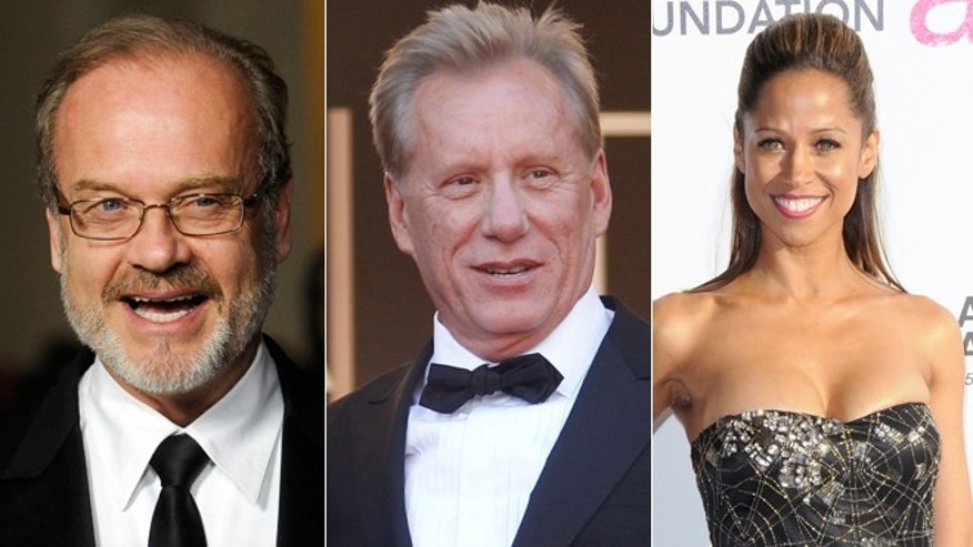 Hollywood stars Kelsey Grammer, James Woods and Stacey Dash are shown.