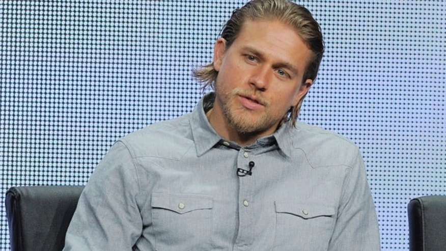 "Aug. 2, 2013: In this file photo, Charlie Hunnam, a cast member in the FX series ""Sons of Anarchy,"" answers a reporter's question during the FX 2013 Summer TCA press tour in Beverly Hills, Calif."