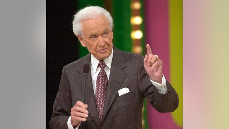 "**FILE**Bob Barker, 79, host of game show ""The Price is Right,"" gestures during taping of a show on, Jan. 15, 2003, in Los Angeles. Barker has agreed to continue as host of ""The Price Is Right"" for a record 34th season, CBS announced Monday, Jan. 3, 2005.(AP Photo/Nick Ut)"