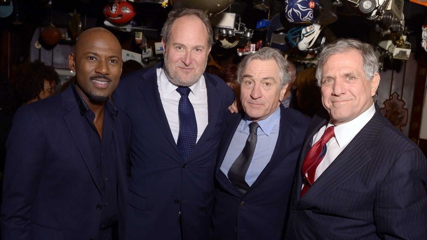 "Romany Malco, director Jon Turteltaub, Robert De Niro and CBS' Les Moonves at the ""Last Vegas"" party"