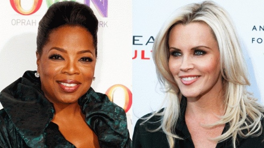 Oprah Winfrey, left, and Jenny McCarthy.