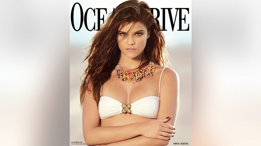 Nina Agdal is shown on the cover of Ocean Drive.