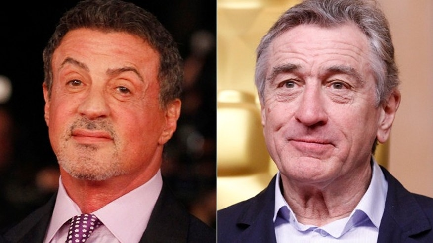 "Sylvester Stallone, left, and Robert De Niro will appear in the upcoming movie ""Grudge Match."""