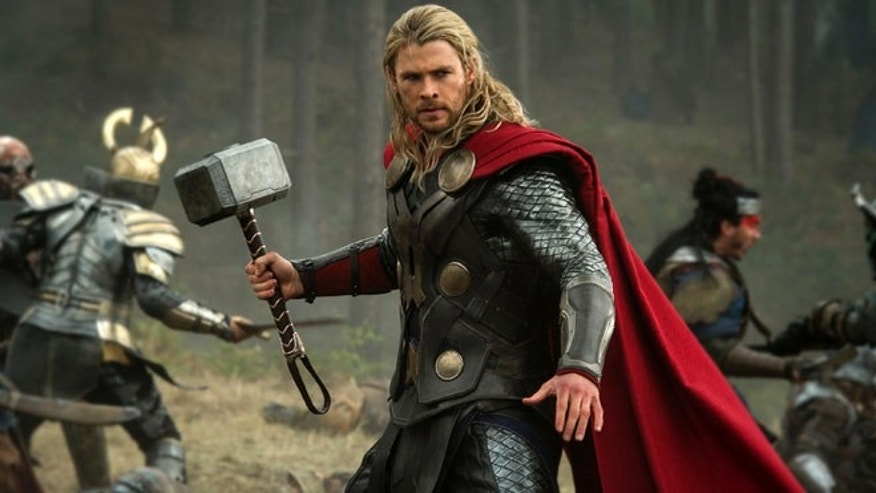 "This publicity file photo released by Walt Disney Studios and Marvel shows Chris Hemsworth in a scene from ""Thor: The Dark World."" Thor: The Dark World continued its box-office reign with $38.5 million in its second week, holding off The Best Man Holiday, according to studio estimates Sunday, Nov. 17, 2013."