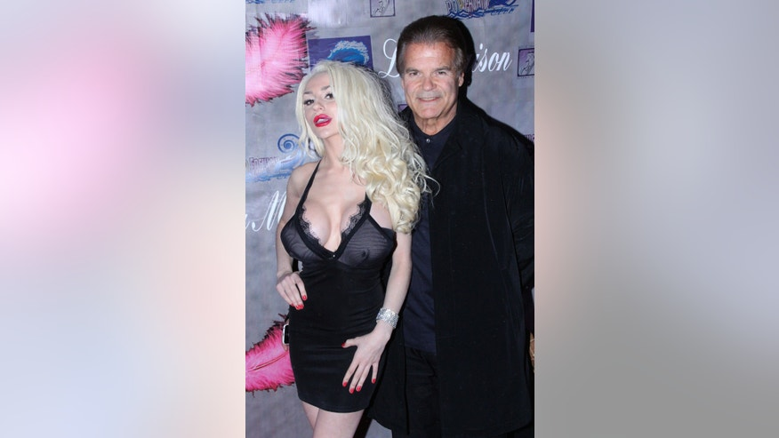 Courtney Stodden is shown at Studio City, Calif.,  with Edward Lozzi on Nov. 21, 2013.