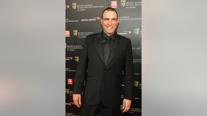 November 4, 2010. British actor Vinnie Jones poses at the 19th Annual BAFTA (British Academy of Film and Television Arts) Los Angeles