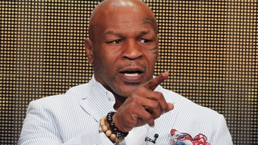 "Mike Tyson, star of HBO Films ""Mike Tyson: Undisputed Truth"", takes part in a panel discussion at the Television Critics Association Cable TV Summer press tour in Beverly Hills, California July 25, 2013."