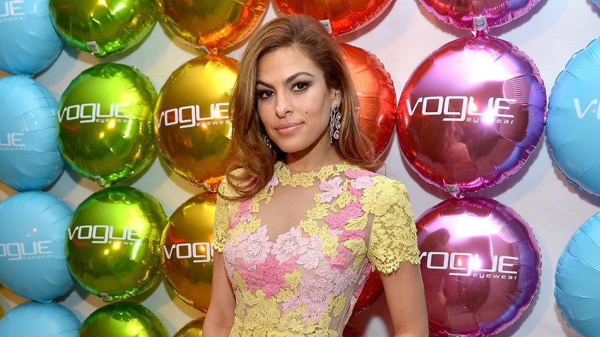 BEVERLY HILLS, CA - MARCH 13:  Actress Eva Mendes attends Vogue Eyewear and Eva Mendes celebrate the launch of The Spring/Summer Communications Campaign at Simon House on March 13, 2013 in Beverly Hills, California.  (Photo by Charley Gallay/Getty Images for Vogue Eyewear)