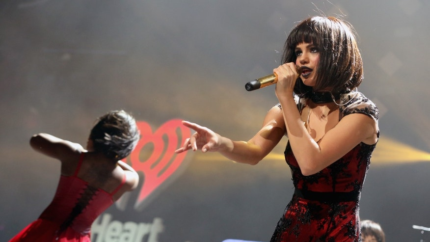 Selena Gomez during KIIS FMs Jingle Ball 2013 at Staples Center on December 6, 2013 in Los Angeles, CA.