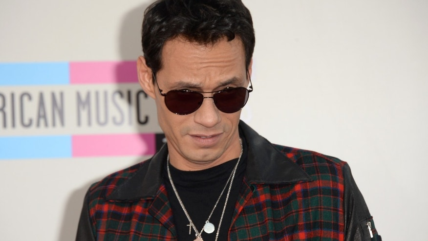 Marc Anthony at the 2013 American Music Awards on November 24, 2013 in Los Angeles, California.