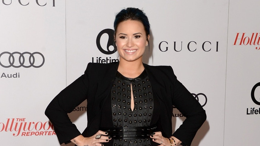 Demi Lovato on December 11, 2013 in Beverly Hills, California.