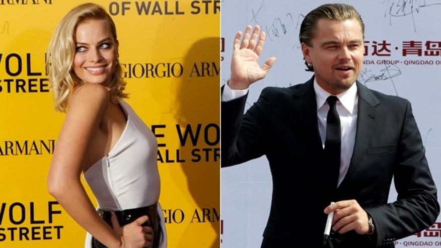 "Margot Robbie, left, and Leonardo DiCaprio both appear in ""The Wolf of Wall Street."""