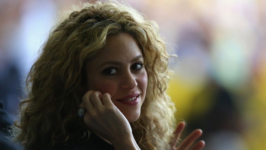 Shakira during the FIFA Confederations Cup on June 30, 2013 in Rio de Janeiro, Brazil.