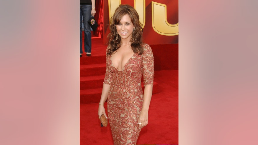 June 4, 2005. Actress Lacey Chabert arrives at the 2005 MTV Movie Awards in Los Angeles.