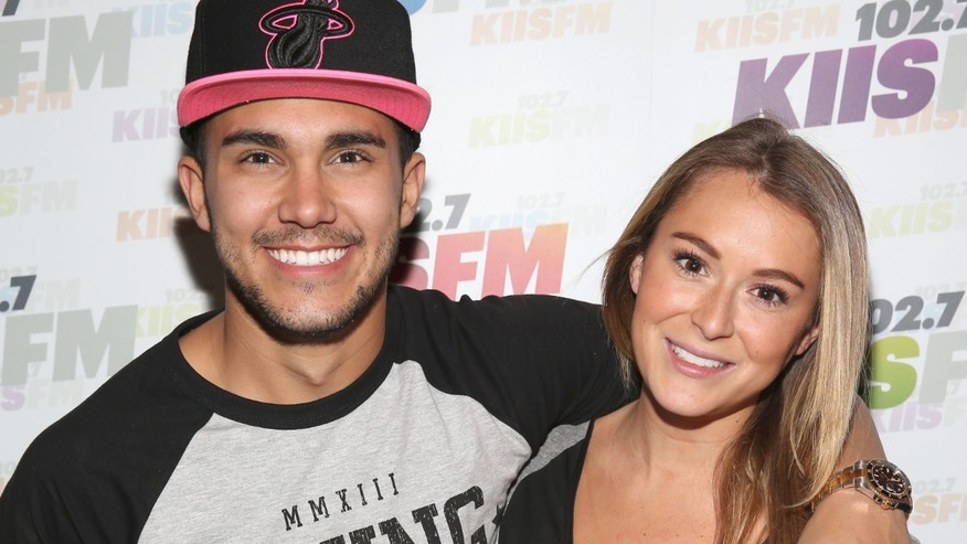 LOS ANGELES, CA - DECEMBER 06:  Actors Alexa Vega (R) and Carlos Pena attend KIIS FMâs Jingle Ball 2013 gift suite at Staples Center on December 6, 2013 in Los Angeles, CA.  (Photo by Imeh Akpanudosen/Getty Images for Clear Channel)