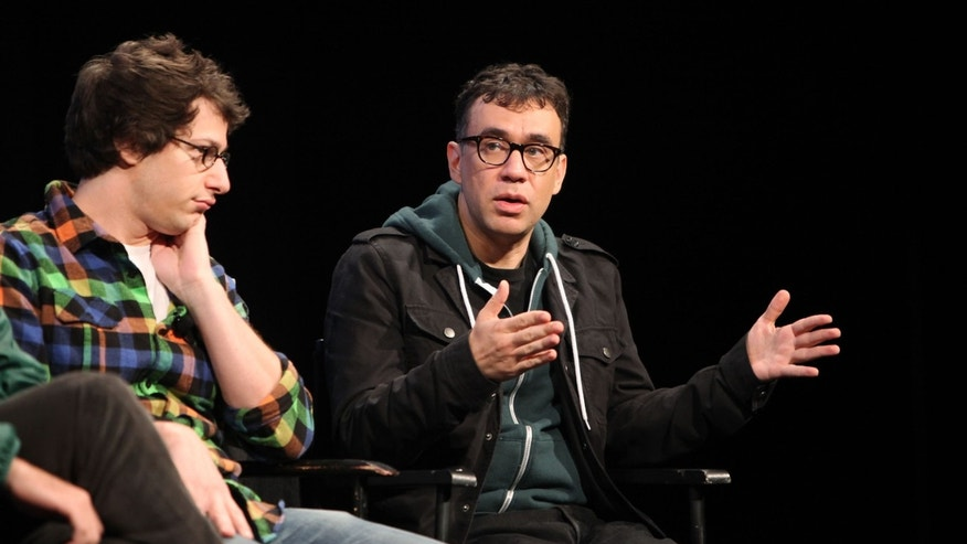Andy Samberg and Fred Armisen on October 3, 2010 in New York City.