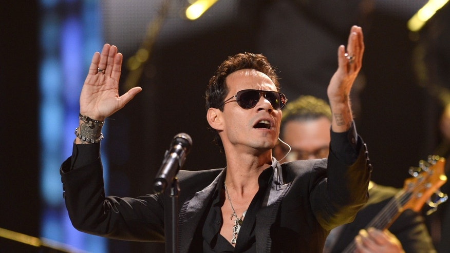 Marc Anthony during the Latin GRAMMY Awards on November 21, 2013 in Las Vegas, Nevada.