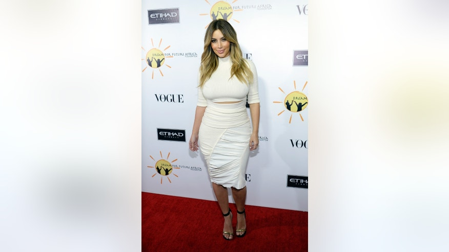 October 24, 2013. Kim Kardashian attends Dream For Future Africa Foundation Inaugural Gala in Beverly Hills, California.