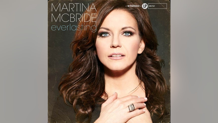 "This CD cover image released by Vinyl Records shows ""Everlasting"" by Martina McBride. McBride, known for her huge soprano voice, is self-releasing ""Everlasting,"" on March 4, a new album of classic soul and R&B songs made famous by the likes of Franklin and James, but also Elvis and Van Morrison and more.(AP Photo/Vinyl Records )"