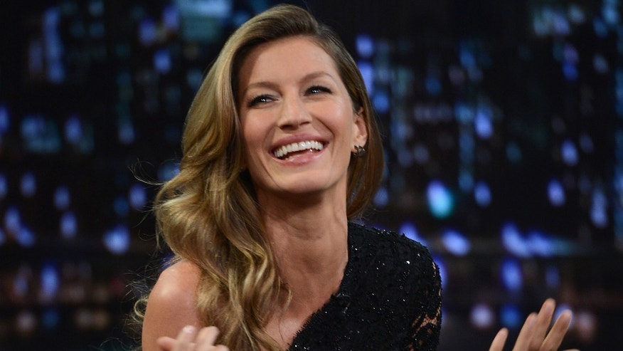 "Gisele Bundchen at ""Late Night With Jimmy Fallon"" on January 6, 2014 in New York City."