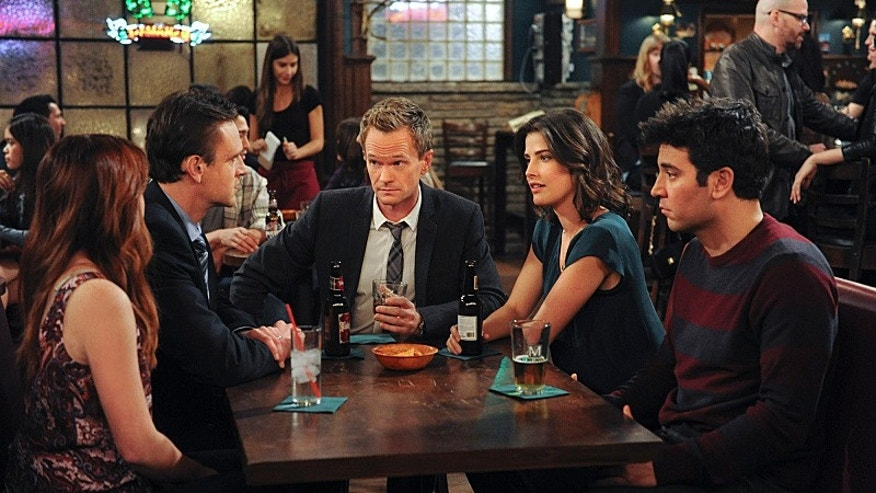 """Alyson Hannigan as Lily, Jason Segel  as Marshall, Neil Patrick Harris as Barney, Cobie Smulders as Robin, Josh Radnor as Ted, on """"How I Met Your Mother."""""""