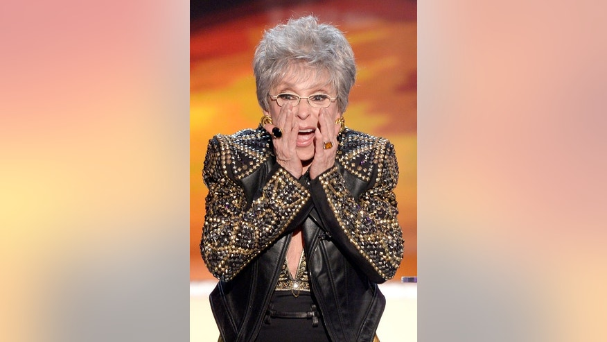 January 18, 2014. Rita Moreno accepting the Lifetime Achievement Award at the SAG awards in Los Angeles.