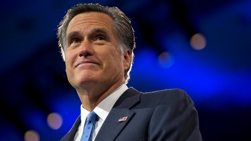 March 15, 2013. Mitt Romney  at the 40th annual Conservative Political Action Conference in National Harbor, Md.