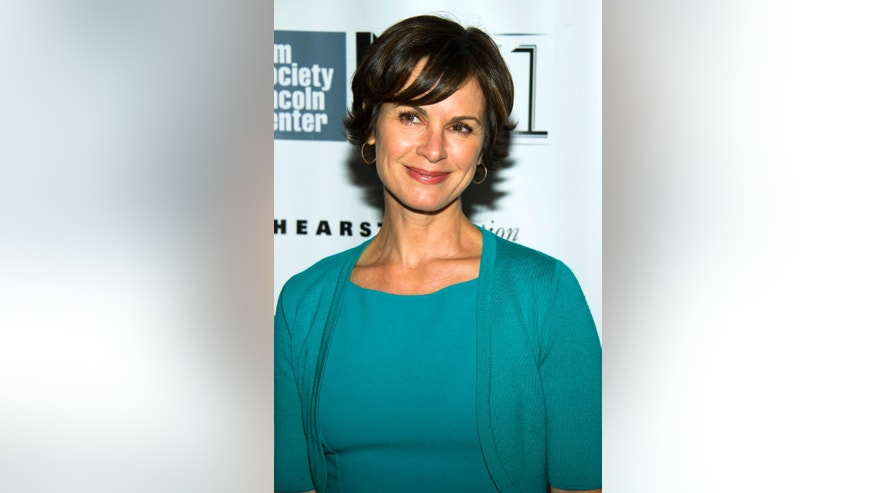 "This Oct. 8, 2013 file photo shows ABC News anchor Elizabeth Vargas at the New York Film Festival premiere of ""All Is Lost"" in New York."