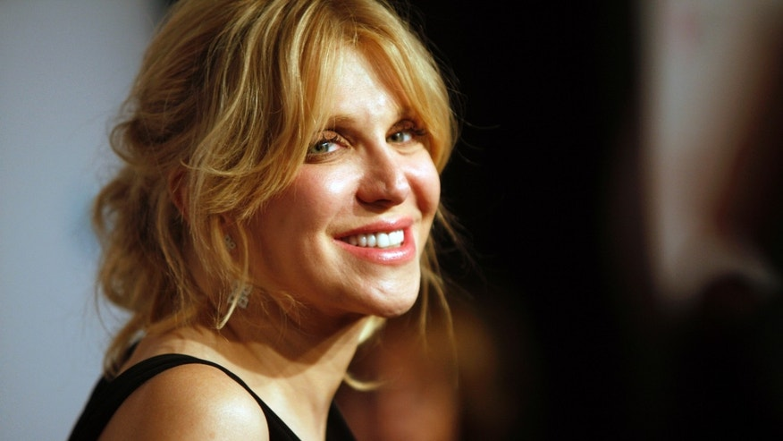 "October 15, 2013. Courtney Love arrives at the Elton John AIDS Foundation's 12th Annual ""An Enduring Vision"" benefit gala at Cipriani Wall Street, in New York."