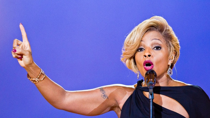 December 11, 2013. Mary J. Blige performs during the Nobel Peace Prize concert in Oslo, Norway.