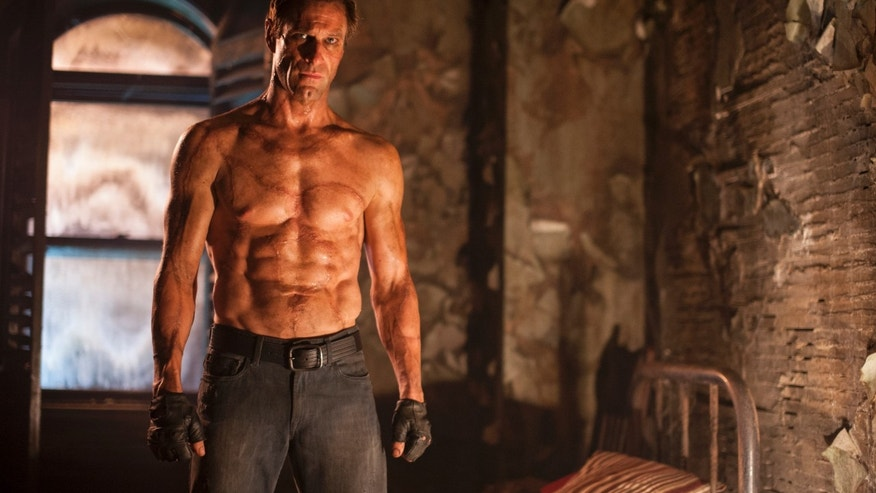 "Aaron Eckhart in a scene from the film, ""I, Frankenstein."""