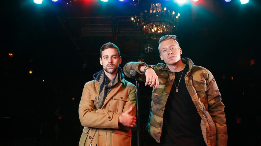 Nov 20, 2012.  Ben Haggerty, better known by his stage name Macklemore, right, and his producer Ryan Lewis pose for a portrait at Irving Plaza in New York.  Macklemore & Ryan Lewis are top contenders at the Grammy Awards on Sunday, Jan. 26, 2014, with seven nominations.