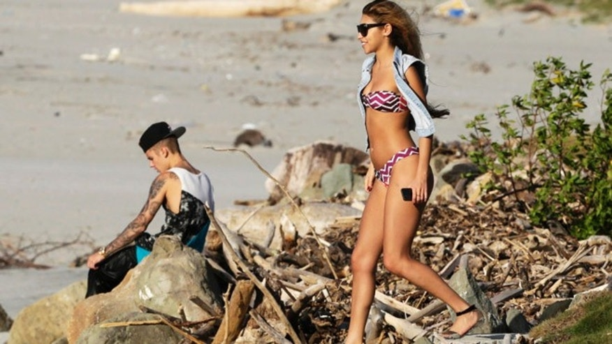 Chantel Jeffries and Justin Bieber on the outskirts of Panama City.