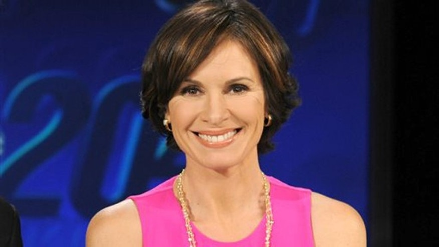 "This Feb. 1, 2013 photo released by ABC shows co-anchor Elizabeth Vargas  on the set of ""20/20,"" in New York."