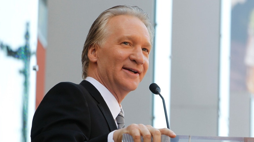 September 14, 2010. Comedian Bill Maher speaks during ceremonies unveiling his star on the Hollywood Walk of Fame in Hollywood.