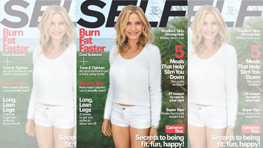 "Cameron Diaz on the cover of ""Self"" magazine."