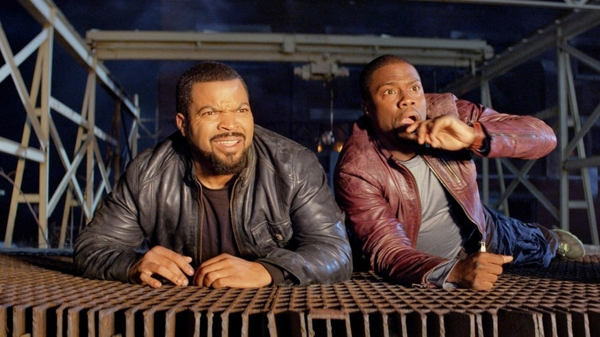 "Ice Cube, left, and Kevin Hart in ""Ride Along."""
