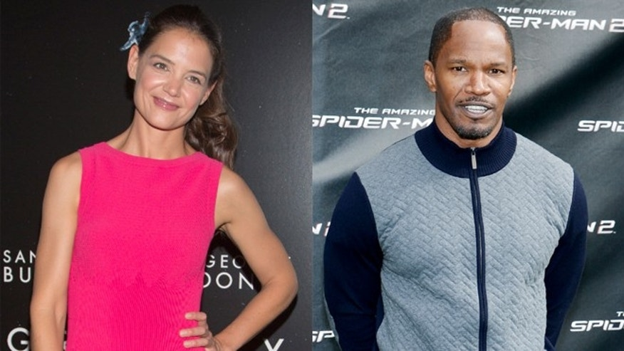 Katie Holmes, left, and Jamie Foxx have been rumored to be dating.