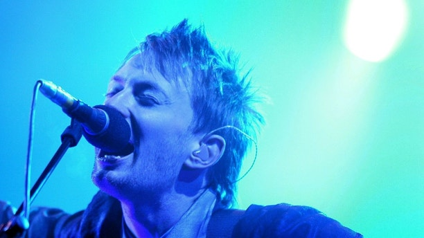 Thom Yorke, lead singer of 'Radiohead' performs at the Glastonbury
