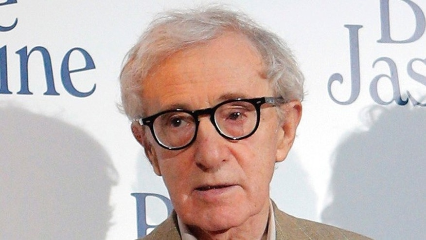 "Aug. 27, 2013: In this file photo shows director and actor Woody Allen at the French premiere of ""Blue Jasmine,"" in Paris."