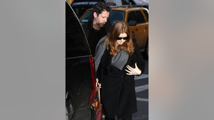 Feb 6, 2014. Amy Adams and her fiancé Darren Le Gallo arrive at a wake for actor Philip Seymour Hoffman at the Frank E. Campbell Funeral Home on Manhattan's Upper East Side in New York.