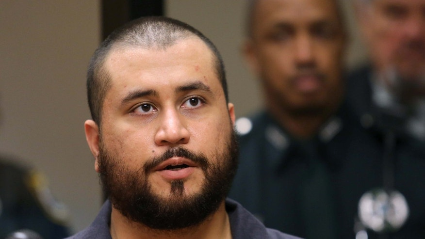 November 19, 2013. George Zimmerman answers questions from a Seminole circuit judge during his first-appearance hearing in Sanford, Florida.