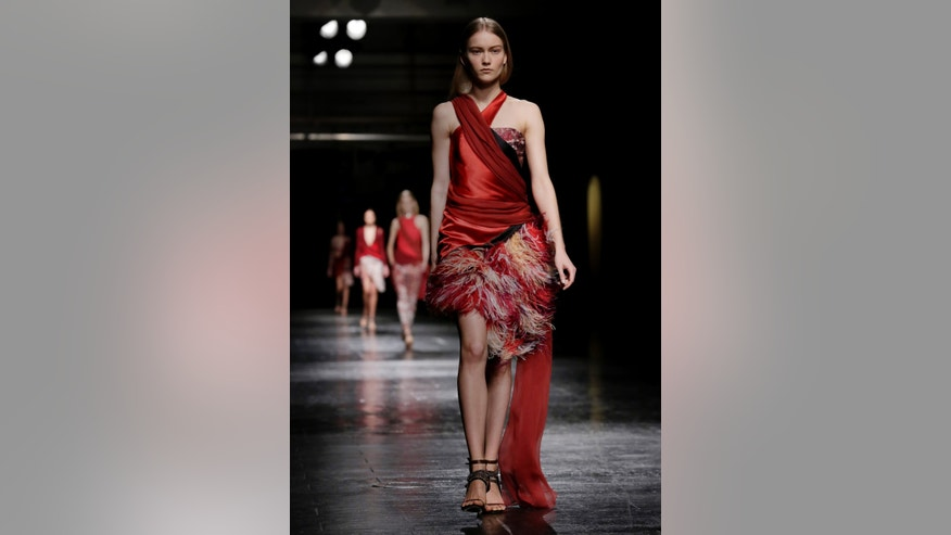Feb. 8, 2014. The Prabal Gurung Fall 2014 collection is modeled during Fashion Week in New York.