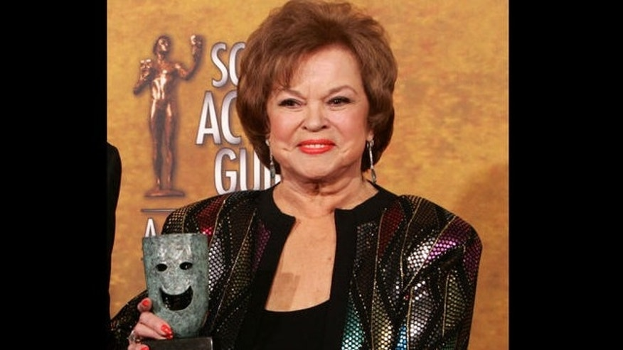 FILE: Jan. 29, 2006: Shirley Temple Black holds Screen Actors Guild Awards 42nd annual life achievement award, Los Angeles, California.