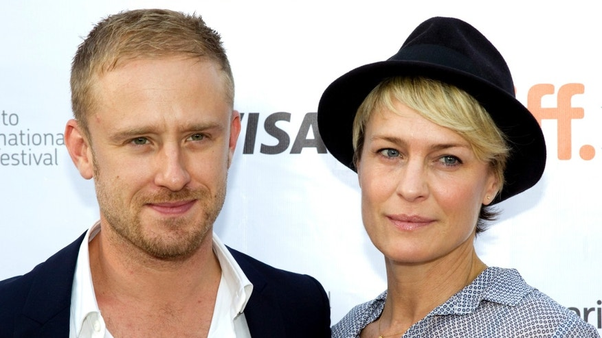 "September 10, 2013. Cast member Ben Foster and girlfriend Robin Wright arrive for the film premiere of ""Kill Your Darlings"" at the 38th Toronto International Film Festival in Toronto."