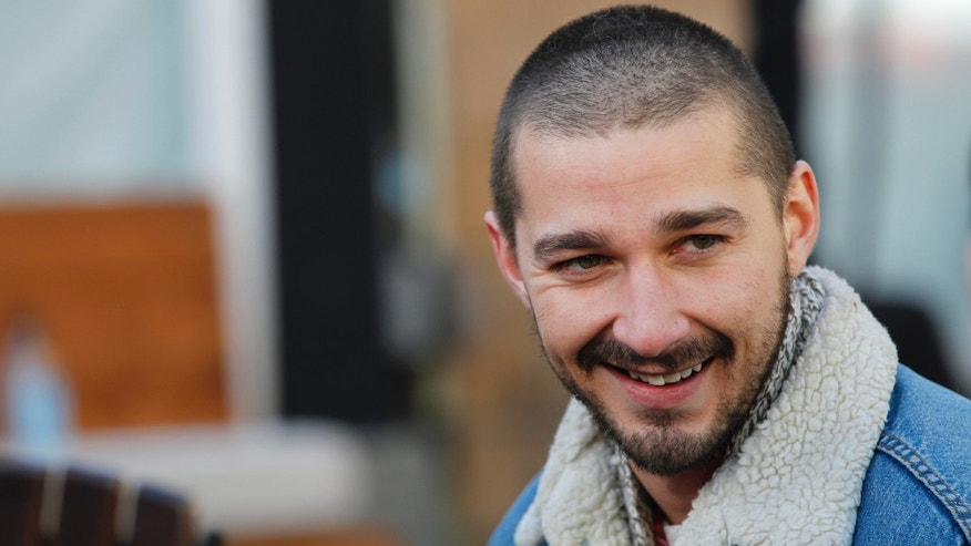 "Actor Shia LaBeouf from the movie ""The Necessary Death of Charlie Countryman"" smiles during the Sundance Film Festival in Park City, Utah January 22, 2013. REUTERS/Mario Anzuoni  (UNITED STATES - Tags: ENTERTAINMENT HEADSHOT) - RTR3CTF5"